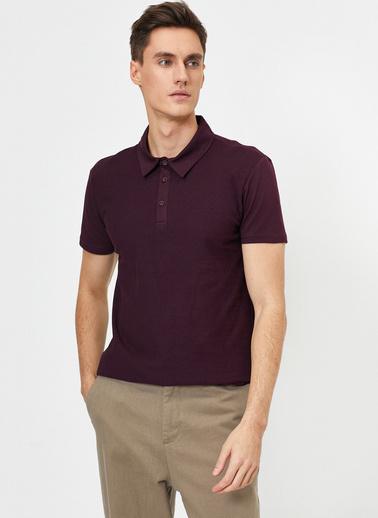 Koton Polo Yaka T-Shirt Mor